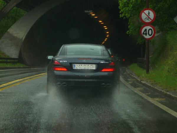 Espanol en Lillehammer. Mercedes SL 55 AMG.