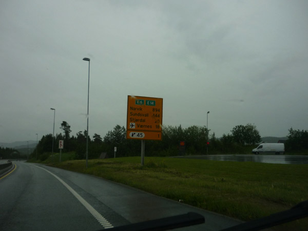 Trondheim-Narvik-900 kilómetros