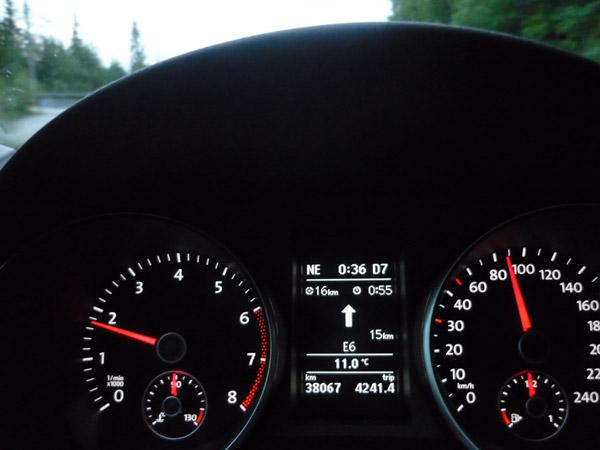 Volkswagen golf. 16 kilómetros a Mo i Rana.