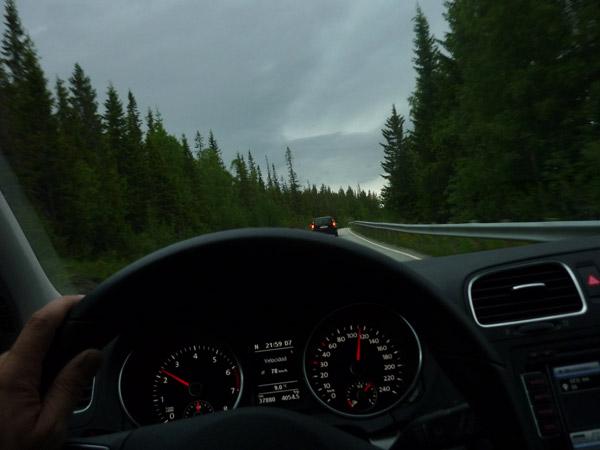 Para de llover. Noruega. Norte.