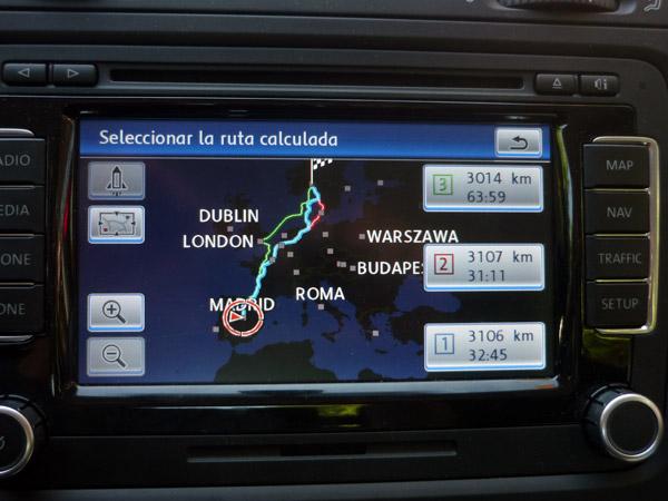 Volkswagen Golf. Navegador. Círculo Polar Ártico. Madrid. Salida.