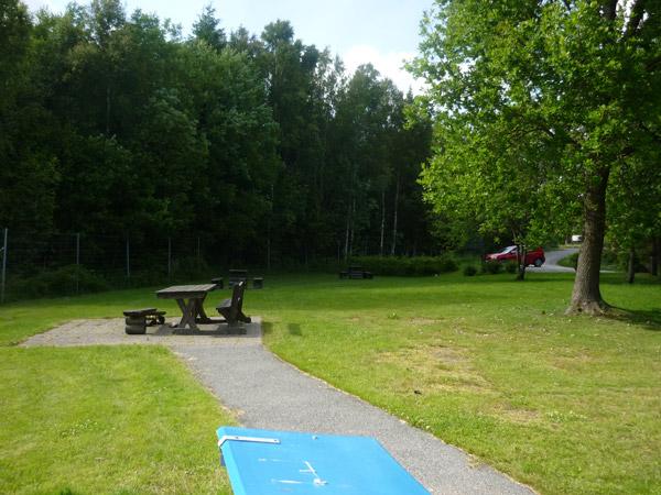 Zona de descanso. Carretera E-6. Suecia. Cerca de Noruega.