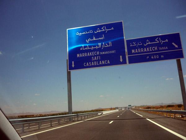 Autopista. Marrakech - Casablanca