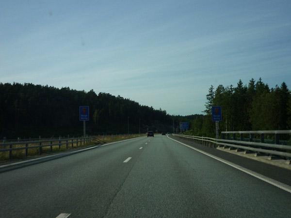 Frontera Suecia - Noruega. Obras. Autopista E-6.