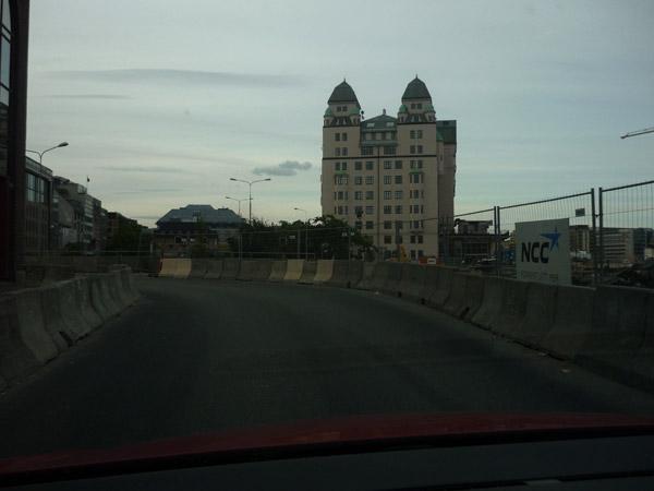 Oslo. Edificio solitario.