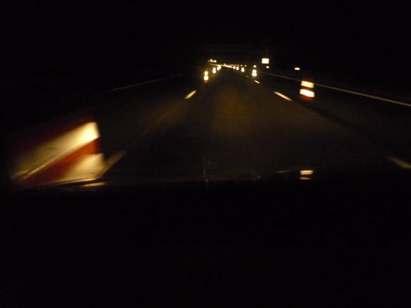 Volkswagen Golf. Autopista A-10. Francia. Obra rara.