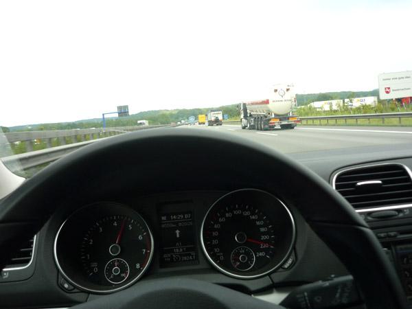 Volkswagen Golf. Velocidad máxima.