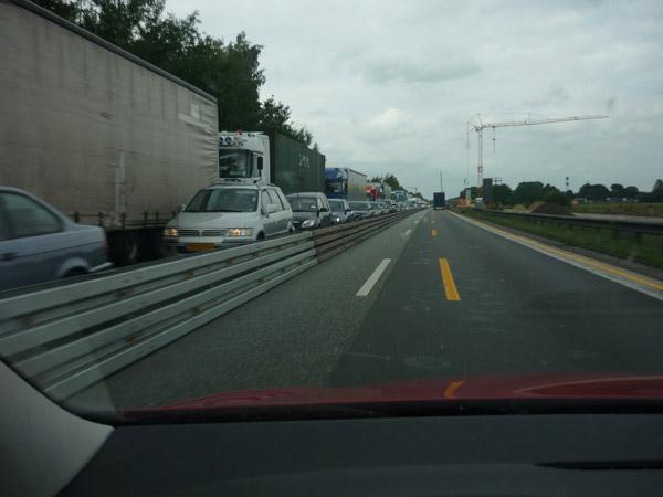 Atasco. Alemania. Obras. Autopista.