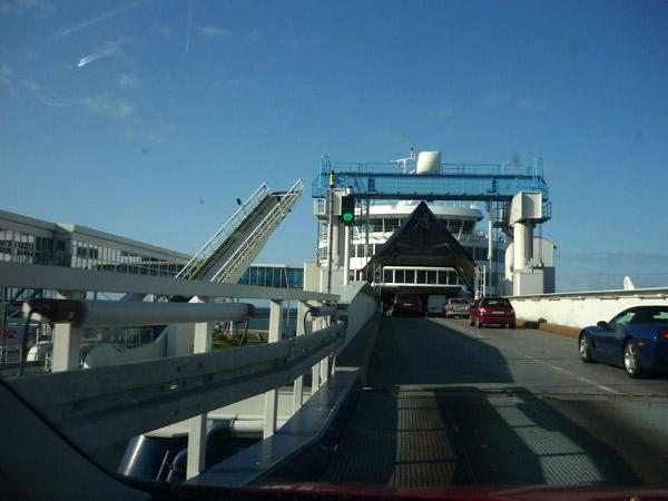 Entrada ferry Alemania Dinamarca.
