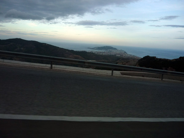 Ceuta desde la carretera