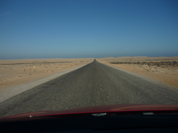 Sahara Occidental. Carretera.
