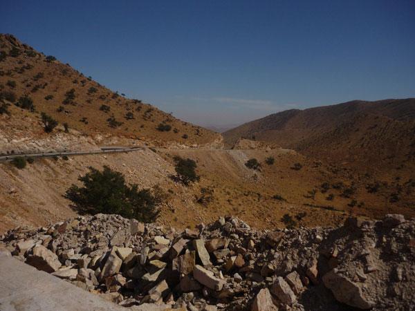 Carretera. Marruecos. Tiznit.