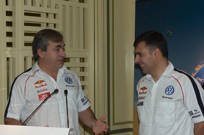 En el Dakar 2010 con Lucas Cruz, copiloto de Carlos Sainz