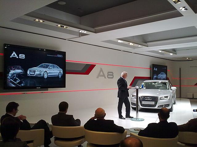 Presentación del Audi A8. Un par de anécdotas y un trivial.