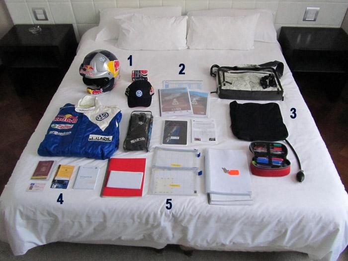 La maleta del copiloto en el Dakar