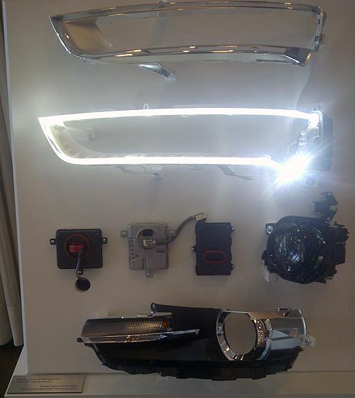 Los diodos luminosos en el Audi Q3