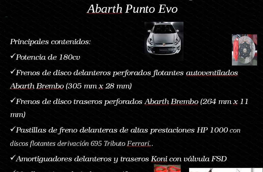 Abarth Punto EVO 1.4 Multiair Turbo 180CV KIT ESSEESSE