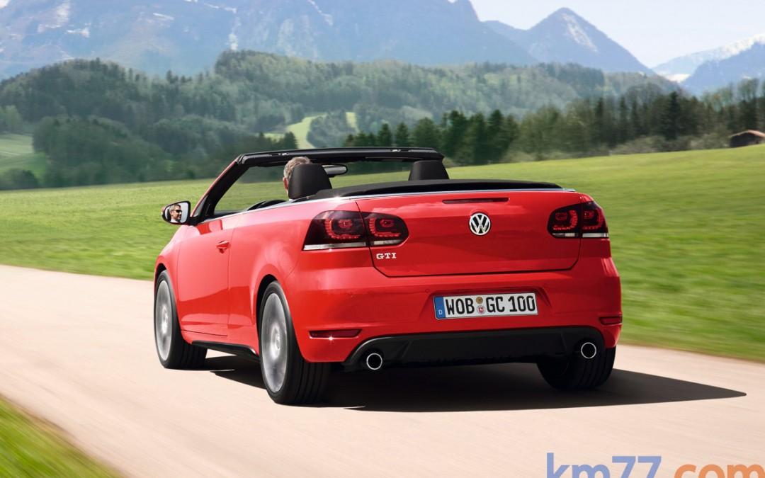 Nuevo Volkswagen Golf Cabrio GTI, en venta desde 35.270 Euros.
