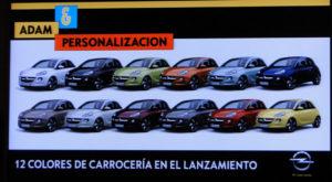 Opel ADAM. Colores para la carrocería