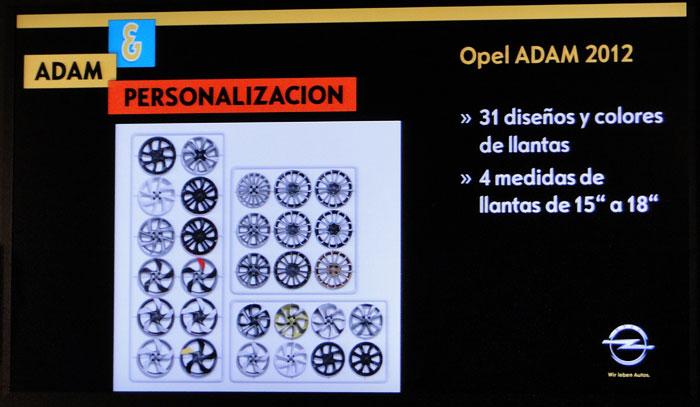 Opel ADAM. Llantas