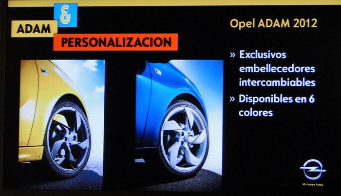 Opel ADAM. Molduras para las llantas