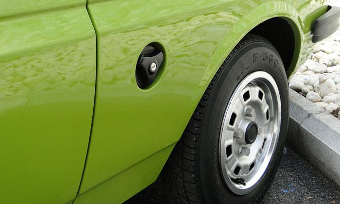 Ford Fiesta (1976). Tapón del depósito de gasolina