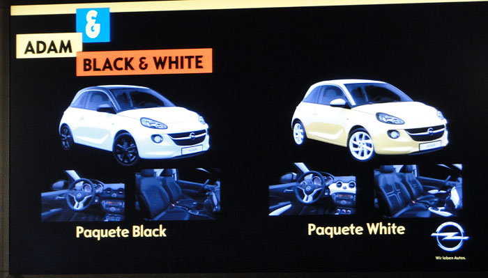 Opel ADAM. Paquetes Back y White