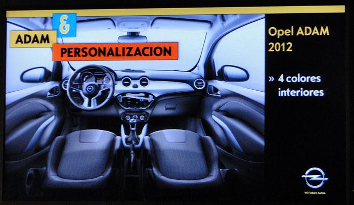 Opel ADAM. Colores interiores