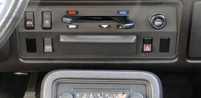 Ford Fiesta (1976). Mandos de la ventilación
