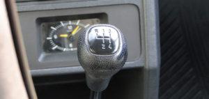 Ford Fiesta (1976). Palanca del cambio de marchas