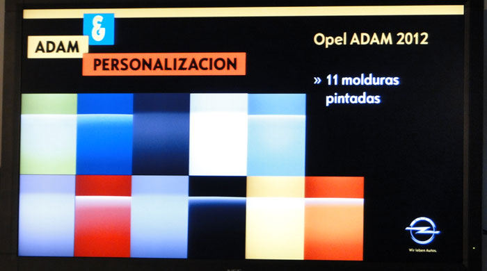 Opel ADAM. Molduras pintadas