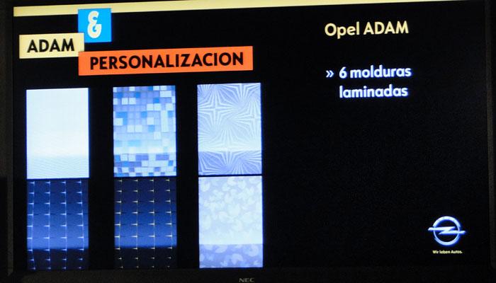 Opel ADAM. Molduras laminadas