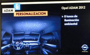 Opel ADAM. Iuminación ambiental