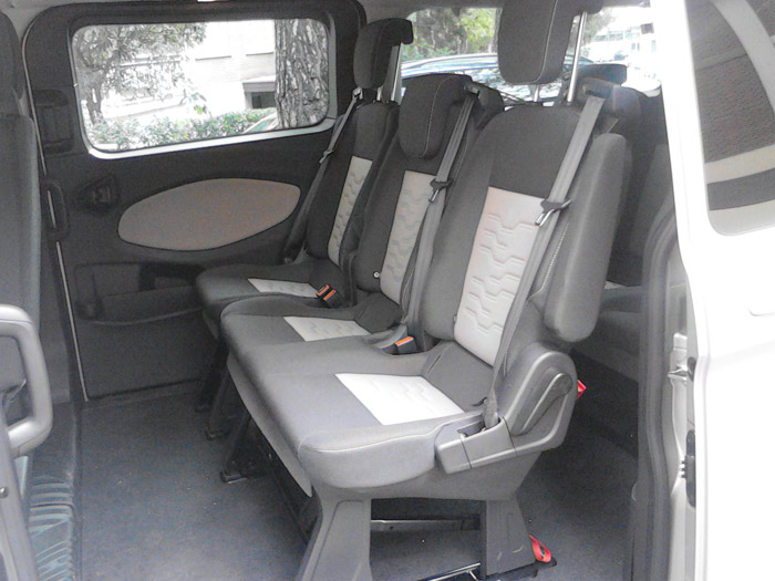 Ford Tourneo Custom. Segunda fila de asientos