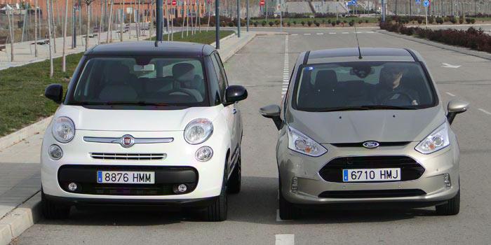 Comparativa: Fiat 500L / Ford B-MAX