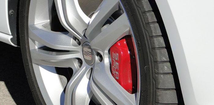SEAT Ibiza SC CUPRA. Pinzas de freno delanteras. Equipo opcional