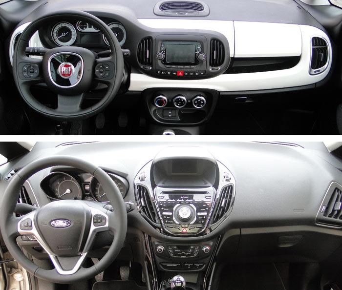 Fiat 500L / Ford B.-MAX. Salpicadero