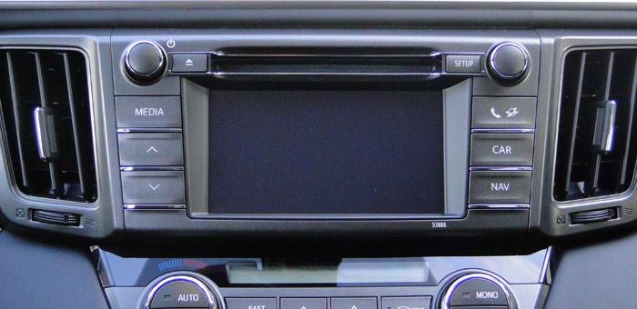 Toyota RAV4. Pantalla táctil