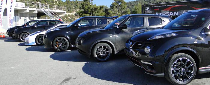 Presentación Nissan Nismo. Coches disponibles para algunas de las pruebas en circuito
