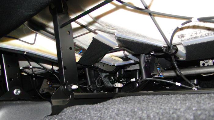 Toyota RAV4. Parte inferior de los asientos posteriores