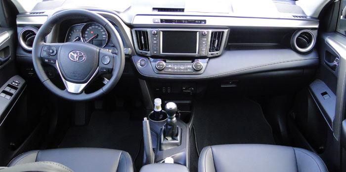 Toyota RAV4. Salpicadero