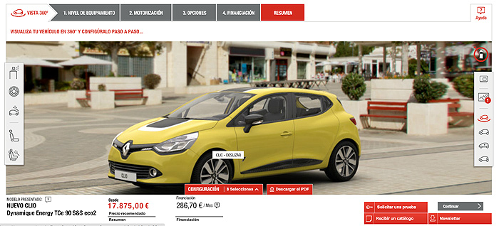 Así era nuestro Clio según el configurador de Renault