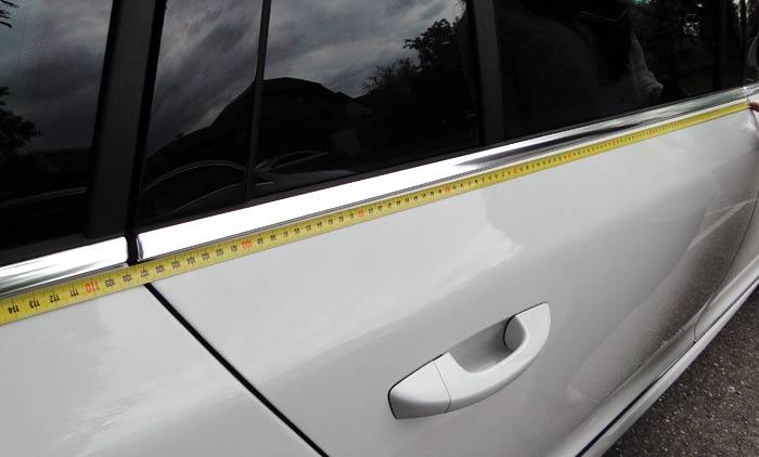 Škoda Superb. Tamaño puertas posteriores