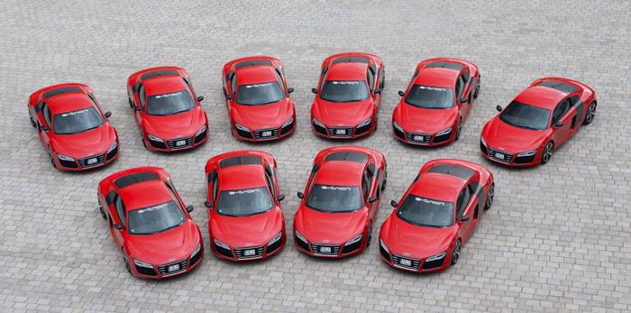Las diez unidades fabricadas del R8 e-tron