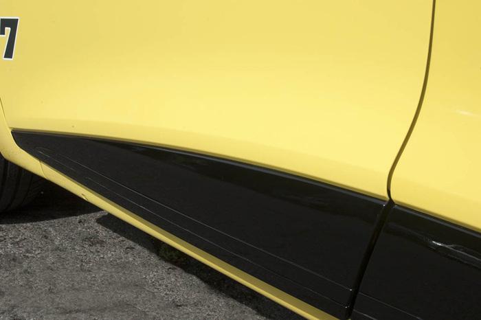 El embellecedor negro ya no tiene restos de pintura amarilla