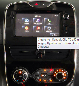 Galería fotos interiores del Renault Clio