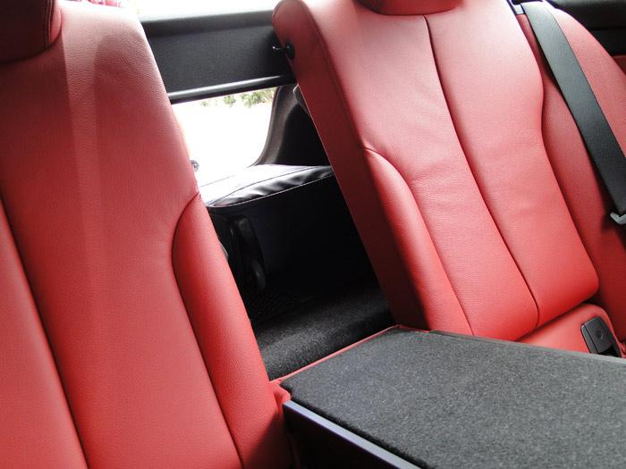 BMW Serie 4 Coupé.Asientos traseros