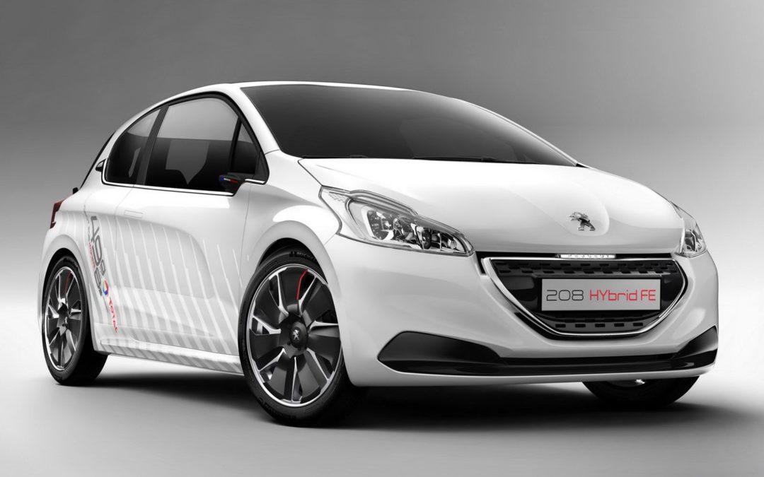 Peugeot y TOTAL unidos para crear el 208 HYbrid FE