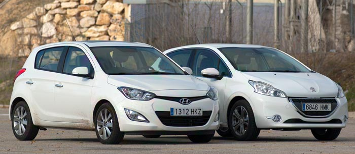 Comparativa: Peugeot 208 1.2 VTi 82 Vs Hyundai i20 1.4 CRDi 90 CV
