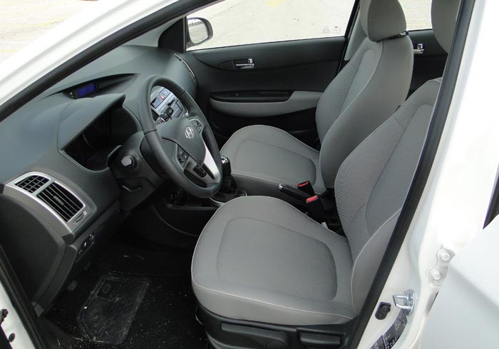Hyundai i20. Plazas delanteras